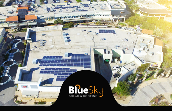 Solar Panels on a Comercial Roof
